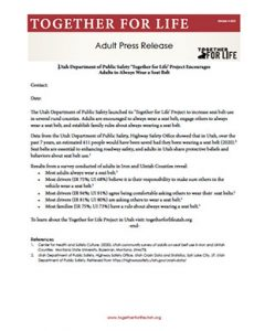Adult Press Release