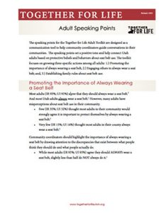 Adult Speaking Points