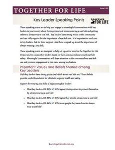 Key Leader Speaking Points - CH1