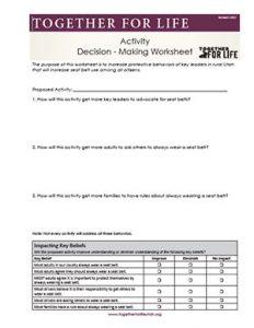 Activity Decision-Making Worksheet